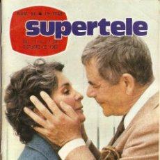 Coleccionismo de Revista Teleprograma: REVISTA SUPERTELE Nº 56 MENDIGO Y LADRÓN AUDREY HEPBURN CARY GRANT JUANITO VALDERRAMA DOLORES ABRIL. Lote 144562822