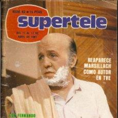 Coleccionismo de Revista Teleprograma: REVISTA SUPERTELE Nº 82 HORACIO PINCHADISCOS RAQUEL WELCH PIER PAOLO PASOLINI TONY MUSANTE. Lote 144602890