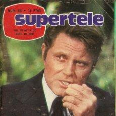 Coleccionismo de Revista Teleprograma: REVISTA SUPERTELE Nº 83 HAWAI 5-0 VICENTE PARRA MICHAEL DOUGLAS ÁLVARO DE LUNA ARRIBA Y ABAJO SERIE. Lote 144603498