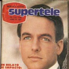Coleccionismo de Revista Teleprograma: REVISTA SUPERTELE Nº 91 MARK HARMON WOODY ALLEN FÚTBOL CLUB BARCELONA-SPORTING COPA DEL REY 1981. Lote 144607822