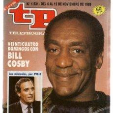 Coleccionismo de Revista Teleprograma: TP. TELEPROGRAMA. Nº 1231. BILL COSBY. 12 NOVIEMBRE 1989. (ST/C11). Lote 146665494