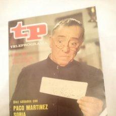 Coleccionismo de Revista Teleprograma: TP TELEPROGRAMA N 893 -DEL 18 AL 22 MAYO 1983 - DIEZ SABADOS CON PACO MARTINEZ SORIA. Lote 146703386