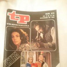 Coleccionismo de Revista Teleprograma: TP TELEPROGRAMA N 870 EXTRA -DEL 6 AL 12 DICIEMBRE 1982 - LO MEJOR Y LO PEOR DEL AÑO. Lote 146704854