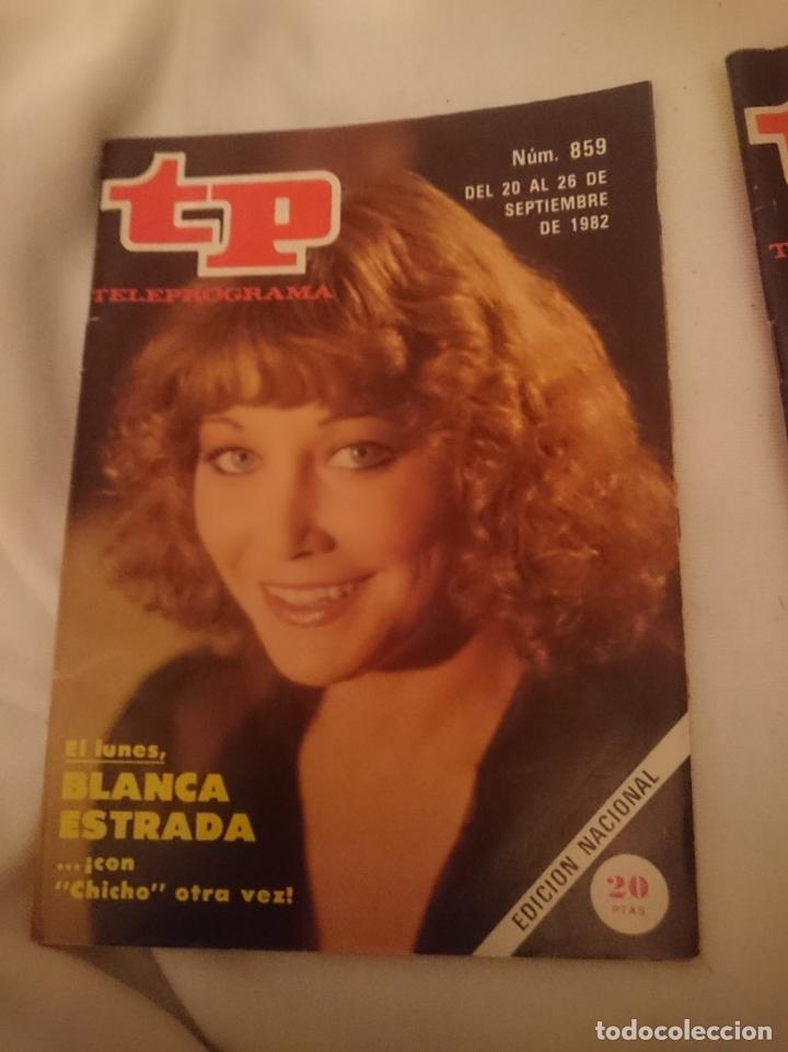 TP TELEPROGRAMA N 859 -DEL 20 AL 26 SEPTIEMBRE 1982 - BLANCA ESTRADA CON CHICHO -REF-HAMIDECAEMTP (Coleccionismo - Revistas y Periódicos Modernos (a partir de 1.940) - Revista TP ( Teleprograma ))