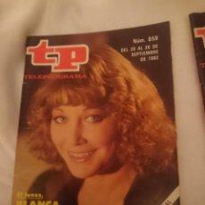 Coleccionismo de Revista Teleprograma: TP TELEPROGRAMA N 859 -DEL 20 AL 26 SEPTIEMBRE 1982 - BLANCA ESTRADA CON CHICHO -REF-HAMIDECAEMTP. Lote 146705082