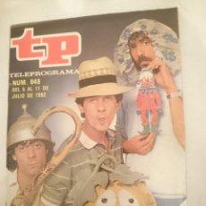 Coleccionismo de Revista Teleprograma: TP TELEPROGRAMA N 848 DEL 5 AL 11 JULIO 1982 - UN DOS TRES - MARTES Y TRECE. Lote 146705462