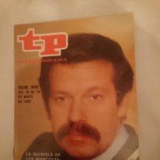 Coleccionismo de Revista Teleprograma: TP TELEPROGRAMA N 840 -DEL 10 AL 18 MAYO 1982 -LA QUINIELA DE LOS MIERCOLES - IÑIGO O CINE. Lote 146705498