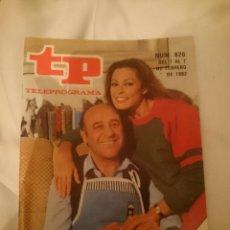 Coleccionismo de Revista Teleprograma: TP TELEPROGRAMA N 826 -DEL 1 AL 27 8 FEBRERO 1982 - DIALOGOS DE MATRIMONIO. Lote 146887022