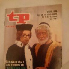 Coleccionismo de Revista Teleprograma: TELEPROGRAMA N 808 DEL 28 SEPTIEMBRE AL 4 OCTUBRE 1981 - EL MERCADER DE VENECIA -AGATA LYS. Lote 146888474