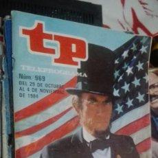 Coleccionismo de Revista Teleprograma: TP Nº 969 DE NOVIMBRE DE 1984 GREGORY PECK AZULES Y GRISES. Lote 146995194