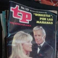 Coleccionismo de Revista Teleprograma: REVISTA TP, TELEPROGRAMA, NUM 1032, AÑO 1986, DINASTIA. Lote 146996870