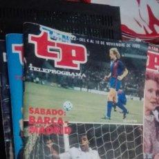 Coleccionismo de Revista Teleprograma: REVISTA TP, TELEPROGRAMA, NUM 1022, AÑO 1985, BARCA MADRID. Lote 146997002