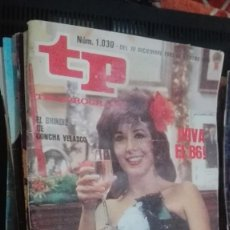 Coleccionismo de Revista Teleprograma: TP TELEPROGRAMA 1030 FELIZ AÑO NUEVO - CONCHA VELASCO (1986). Lote 146997166