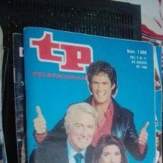 Coleccionismo de Revista Teleprograma: REVISTA TP, TELEPROGRAMA, NUM 1009, AÑO 1985, EL COCHE FANTASTICO. Lote 146997282