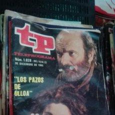 Collectionnisme de Magazine Teleprograma: TP TELEPROGRAMA Nº 1028 - 1985 - LOS PAZOS DE ULLOA. Lote 146999670