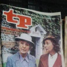 Coleccionismo de Revista Teleprograma: REVISTA TP TELEPROGRAMA Nº 1025 MISS MARPLE. Lote 147000454
