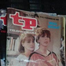 Coleccionismo de Revista Teleprograma: TP TELEPROGRAMA Nº 1040 - 1986 - MEDIA NARANJA. Lote 147000714