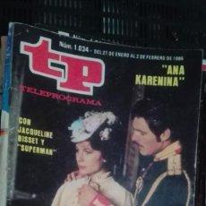 Coleccionismo de Revista Teleprograma: REVISTA TP TELEPROGRAMA Nº 1034 CON JACQUELINE BISSET Y SUPERMAN. Lote 147001354