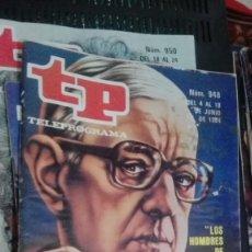 Coleccionismo de Revista Teleprograma: REVISTA TP TELEPROGRAMA Nº 948 LOS HOMBRES DE SMILEY. Lote 147002478