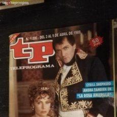 Coleccionismo de Revista Teleprograma: ANTIGUA REVISTA SUPLEMENTO TV - TP - TELEPROGRAMAS - VER PORTADA - ESCUCHO OFERTAS. Lote 147439306
