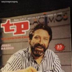 Coleccionismo de Revista Teleprograma: ANTIGUA REVISTA SUPLEMENTO TV - TP - TELEPROGRAMAS - VER PORTADA - ESCUCHO OFERTAS. Lote 147439454