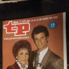 Coleccionismo de Revista Teleprograma: ANTIGUA REVISTA SUPLEMENTO TV - TP - TELEPROGRAMAS - VER PORTADA - ESCUCHO OFERTAS. Lote 147439526