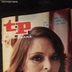 Coleccionismo de Revista Teleprograma: ANTIGUA REVISTA SUPLEMENTO TV - TP - TELEPROGRAMAS - VER PORTADA - ESCUCHO OFERTAS. Lote 147440122