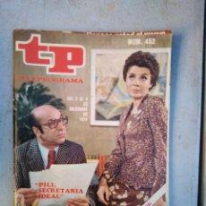 Coleccionismo de Revista Teleprograma: TP TELEPROGRAMA N 452 DICIEMBRE 1974. Lote 148496802