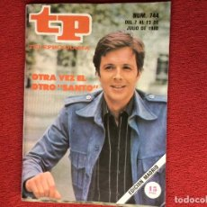 Coleccionismo de Revista Teleprograma: REVISTA TP 744 EL SANTO. Lote 150519294