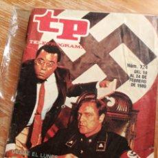 Coleccionismo de Revista Teleprograma: TP TELEPROGRAMA N°724- RAICES, 1980.. Lote 151529901