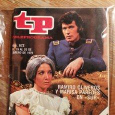 Coleccionismo de Revista Teleprograma: TP TELEPROGRAMA N°672- SUR, 1979.. Lote 151534253