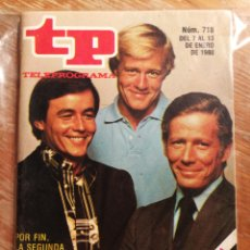Coleccionismo de Revista Teleprograma: TP TELEPROGRAMA N°718- HOMBRE RICO, 1980.. Lote 151535013