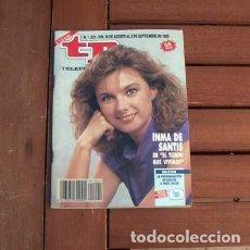 Coleccionismo de Revista Teleprograma: TP / TELEPROGRAMA / INMA DE SANTIS, VIRNA LISI, CARATULAS VHS. Lote 151874014