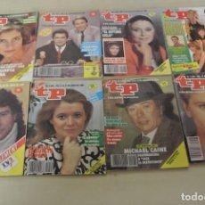 Coleccionismo de Revista Teleprograma: LOTE DE OCHO TELEPROGRAMAS . Lote 152595774