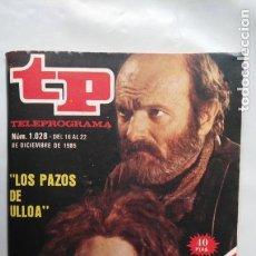 Coleccionismo de Revista Teleprograma: ANTIGUA REVISTA TP (TELEPROGRAMA) VER FOTO . Lote 153049162