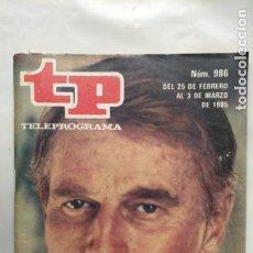 Coleccionismo de Revista Teleprograma: ANTIGUA REVISTA TP (TELEPROGRAMA) VER FOTO . Lote 153049302