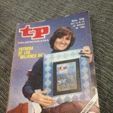 Coleccionismo de Revista Teleprograma: REVISTA TP TELEPROGRAMA Nº 936 AÑO 1984. ENTREGA DE LOS MEJORES 83. PREMIOS TP.. Lote 157143994