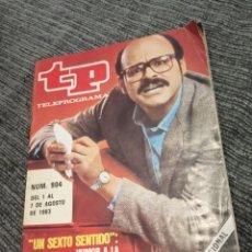 Coleccionismo de Revista Teleprograma: REVISTA TP TELEPROGRAMA Nº 904 AÑO 1983. UN SEXTO SENTIDO. HUMOR A LA CANADIENSE.. Lote 157144334