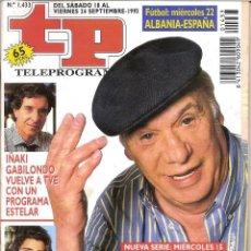 Coleccionismo de Revista Teleprograma: REVISTA TP - Nº - 1433 TELEPROGRAMA SEPTIEMBRE 1993. Lote 158525570