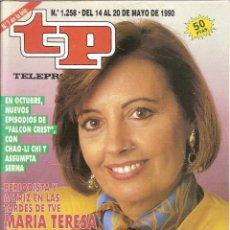 Coleccionismo de Revista Teleprograma: REVISTA TP - Nº - 1258 TELEPROGRAMA MAYO DE 1990. Lote 158525718