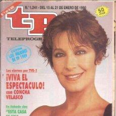 Coleccionismo de Revista Teleprograma: REVISTA TP - Nº - 1241 TELEPROGRAMA ENERO DE 1990. Lote 158526330