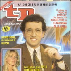 Coleccionismo de Revista Teleprograma: REVISTA TP - Nº - 1305 TELEPROGRAMA ABRIL DE 1991. Lote 158526486