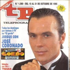 Coleccionismo de Revista Teleprograma: REVISTA TP - Nº - 1280 TELEPROGRAMA OCTUBRE DE 1990. Lote 158527218