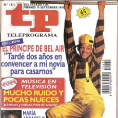 Coleccionismo de Revista Teleprograma: REVISTA TP - Nº - 1431 TELEPROGRAMA SEPTIEMBRE DE 1993. Lote 158527662