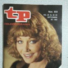 Coleccionismo de Revista Teleprograma: ANTIGUA REVISTA TP (TELEPROGRAMA) VER FOTO . Lote 159298106