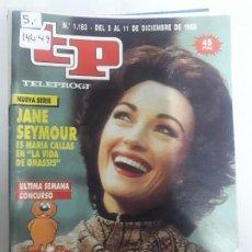 Coleccionismo de Revista Teleprograma: 14449 - TP, TELEPROGRAMA - Nº 1183 - AÑO DEL 1988. Lote 159350310