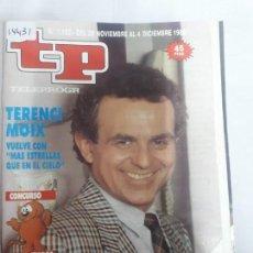 Coleccionismo de Revista Teleprograma: 14431 - TP, TELEPROGRAMA - Nº 1182 - AÑO DEL 1988. Lote 159350598