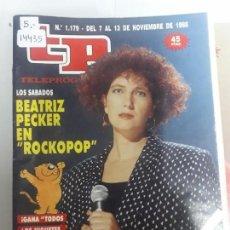Coleccionismo de Revista Teleprograma: 14435 - TP, TELEPROGRAMA - Nº 1179 - AÑO DEL 1988. Lote 159354258