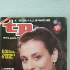 Coleccionismo de Revista Teleprograma: REVISTA TP N° 1211 JUNIO DE 1989. TELEPROGRAMA. Lote 159359950
