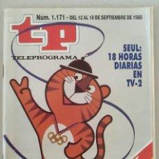 Coleccionismo de Revista Teleprograma: REVISTA TP N° 1171 1988. TELEPROGRAMA. Lote 159361314